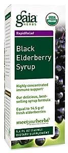 Gaia Herbs Black Elderberry Syrup, 5.4-Ounce Bottle