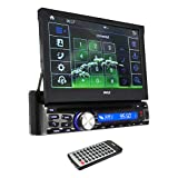 Pyle Car Stereo Receiver System [Touch-Screen Headunit Stereo Radio] CD/DVD Player | Bluetooth Wireless Streaming | Hands-Free Talking | USB/MP3/AUX/AM/FM Radio | Single DIN (PLDT87BT)