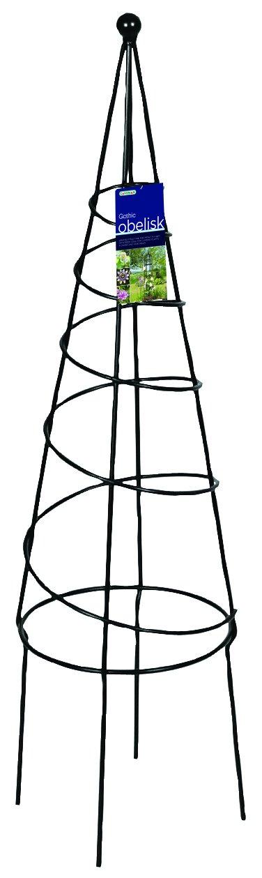 Gardman R531 Spiral Obelisk, Black, 9.5'' Wide x 36'' High by Gardman