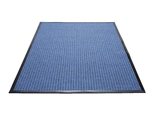 (Guardian WaterGuard Indoor/Outdoor Wiper Scraper Floor Mat, Rubber/Nylon, 2'x3', Blue)