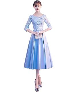 e54e9bf906a6b 韓国風 サテン ショート 丈 オールシーズン 森ガール系 発表会 ドレス 純色 パーティードレス