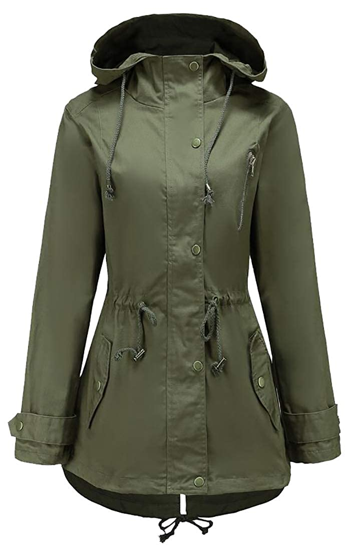 M/&S/&W Womens Fashion Rain Jacket Lightweight Waterproof Outdoor Hooded Raincoat