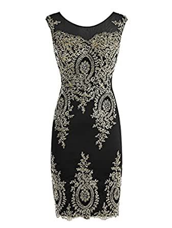 ALAGIRLS Short Applique Prom Dress See-through Sexy Homecoming Dress Black US2