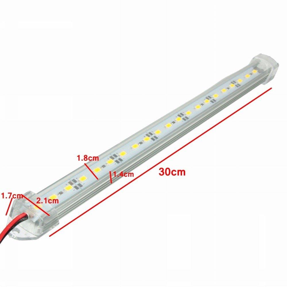Mfpower Auto Chiaro LED 5630 SMD striscia Interior Light Bar Van Caravan Fish Tank 12V 30cm