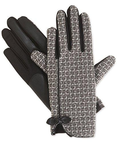 まばたき多分保育園Isotoner Signatureストレッチバスケット織りTechタッチ手袋