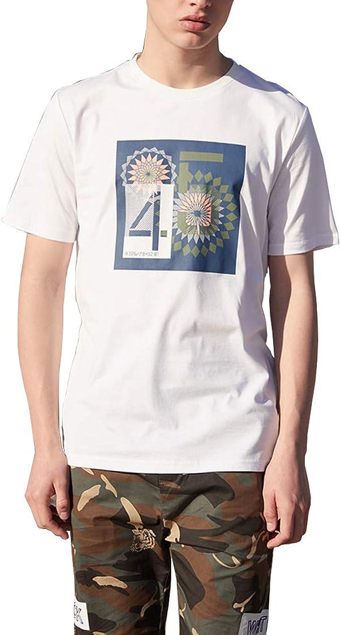 Vintage Camisetas Hombre Manga Corta Blanco Aesthetic Algodón ...