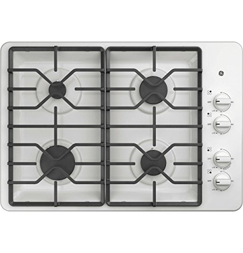 "GE 30"" Built-In Gas Cooktop White JGP3030DLWW"
