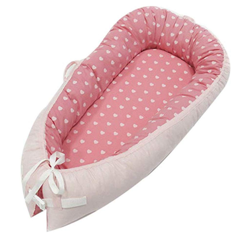 Portable Super Soft and Breathable Newborn Infant Bassinet Baby Lounger Removable Cover Newborn Cocoon Snuggle Bed
