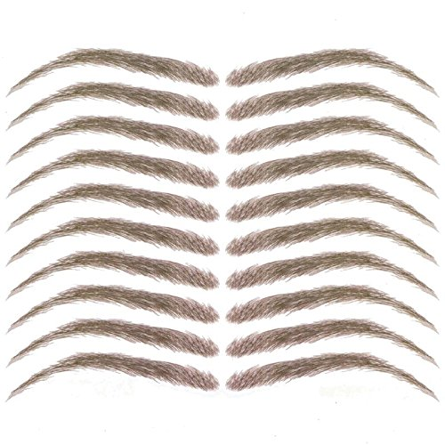 Cardani Eyebrow Tattoos #17  Classic Shape Temporary Tattoo Eyebrows #17 Light Brown Tattoo