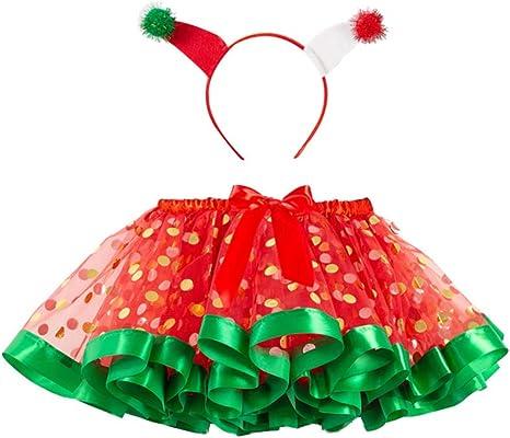 Holibanna Navidad bebé Princesa Vestido Dot Tutu Falda Ropa ...