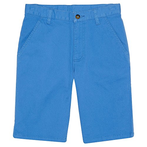 French Toast Boys' Toddler Stretch Chino Short, Blue Raffia, 3T by French Toast