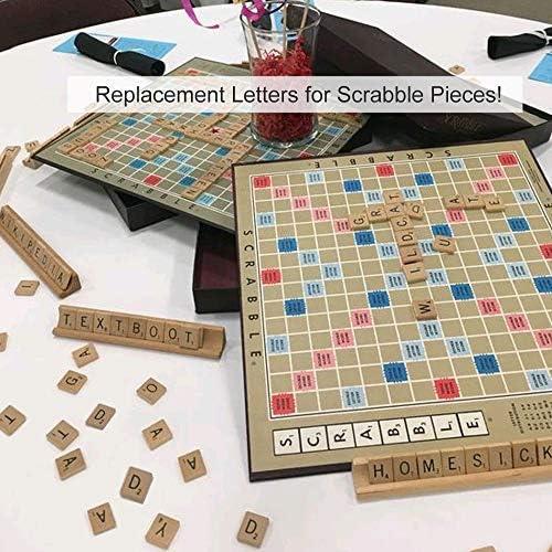KINDPMA 100 Pcs Letras de Madera Scrabble A-Z Alfabeto Madera Infantiles con Numero Letras para Bebe Juegos de Scrabble Ortografia Decoración Bricolaje: Amazon.es: Juguetes y juegos