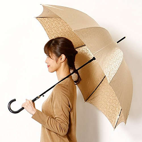 ミラショーン(雑貨)(mila schon) 雨傘(ジャンプ傘)【耐風】(レディース)ジャカード B0762CF22S20オフホワイト 60