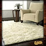 Fur Accents Faux Fur Shaggy White Sheepskin – 5'x7′ Rectangle Area Rug – Throw Rug – Plush – Dining Room – Den – Bedroom – Nursery – Area Toss Carpet Review