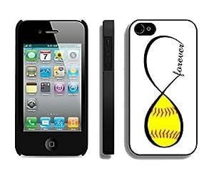 BINGO Lastest Softball Forever Softball Infinity Forever iPhone 4 4S Case Black Cover