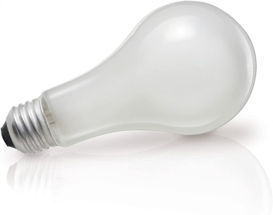 Philips 149716 100-watt A19 Silicone Coated Rough Service Light Bulb