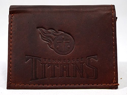 NFL Tennessee Titans Tri-Fold Leather Wallet, Brown