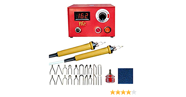 UK Puimentiua Soldering Iron Kit,110Pcs Wood Burning Pyrography Pen Kit Adjustable Temperature Welding Tool Wood Craft Tools for Wood Burning//Carving with Stencils+Wood Soldering Tips+Pencils