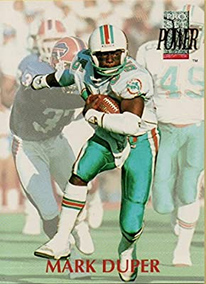 Football NFL 1992 Power #85 Mark Duper Dolphins