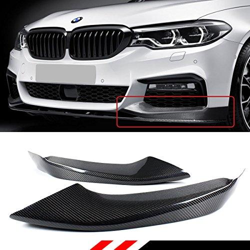 For 2017-2018 BMW G30 5 Series 530i 530e 540i M550i Carbon Fiber Front Bumper 2pcs Side Splitters - M Sport Bumper (540i Bumper)
