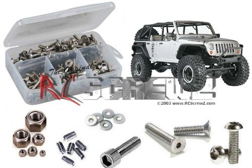 Axial Racing SCX10 Jeep Wrangler Rubicon Stainless Steel Screw Kit ()