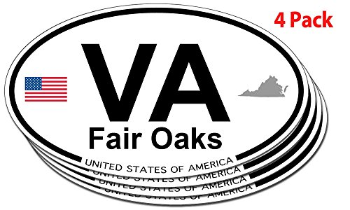 Fair Oaks, Virginia Oval Sticker - 4 - Oaks Virginia Fair