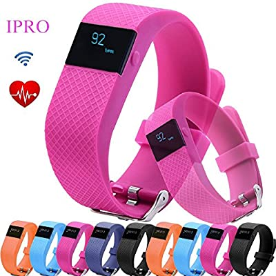 Pedometer Bracelet for Kids,IPRO TW64S Garmin Heart Rate Monitor Wristband Activity Fitness Tracker Waterproof Anti-lost Smartwatch with Call Reminder&Remote Control for IOS 7.1/Android 4.4