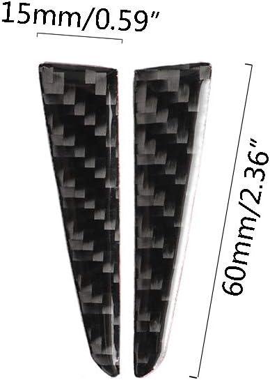 Linlin Carbon Fiber Steering Wheel for Infiniti Q50 Q60 Accessories Decorative Interior Trim Car Sticker 2013 2014 2016 2017
