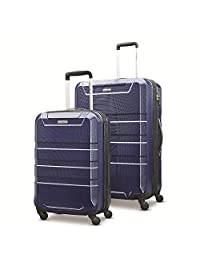 Samsonite Invoke 2 Piece Nested Hardside Set (Spinner 20/Spinner 28) Luggage Set, Navy Blue