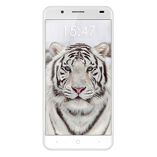 Haehne Ulefone Tiger - 5,5 HD 4G Smartphone, 2GB + 16GB Android 6.0 Quad Core, 8.0MP + 5.0MP Dual Kamera, Dual SIM Smart Wake Fingerabdruck Entriegeln OTG Handy, Grau