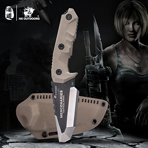 MERCENARIES Special forces tactical knife outdoor hunting camping Army Knives military tactical knife Fixed Blade by HX outdoors (Image #5)