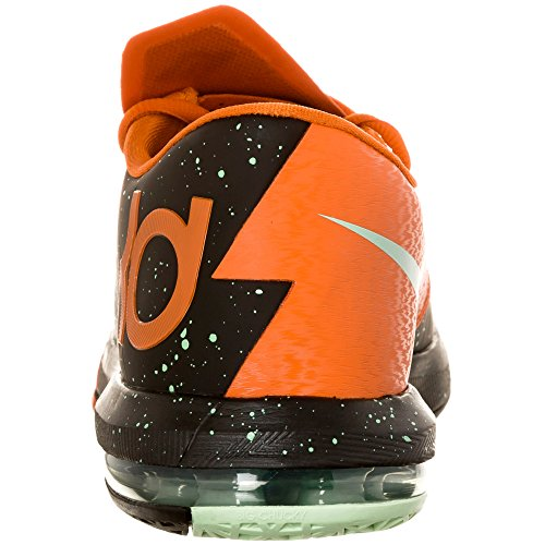 Nike Mens Kd Vi Nero / Verde Glow-urban Orange 599424-002 11.5