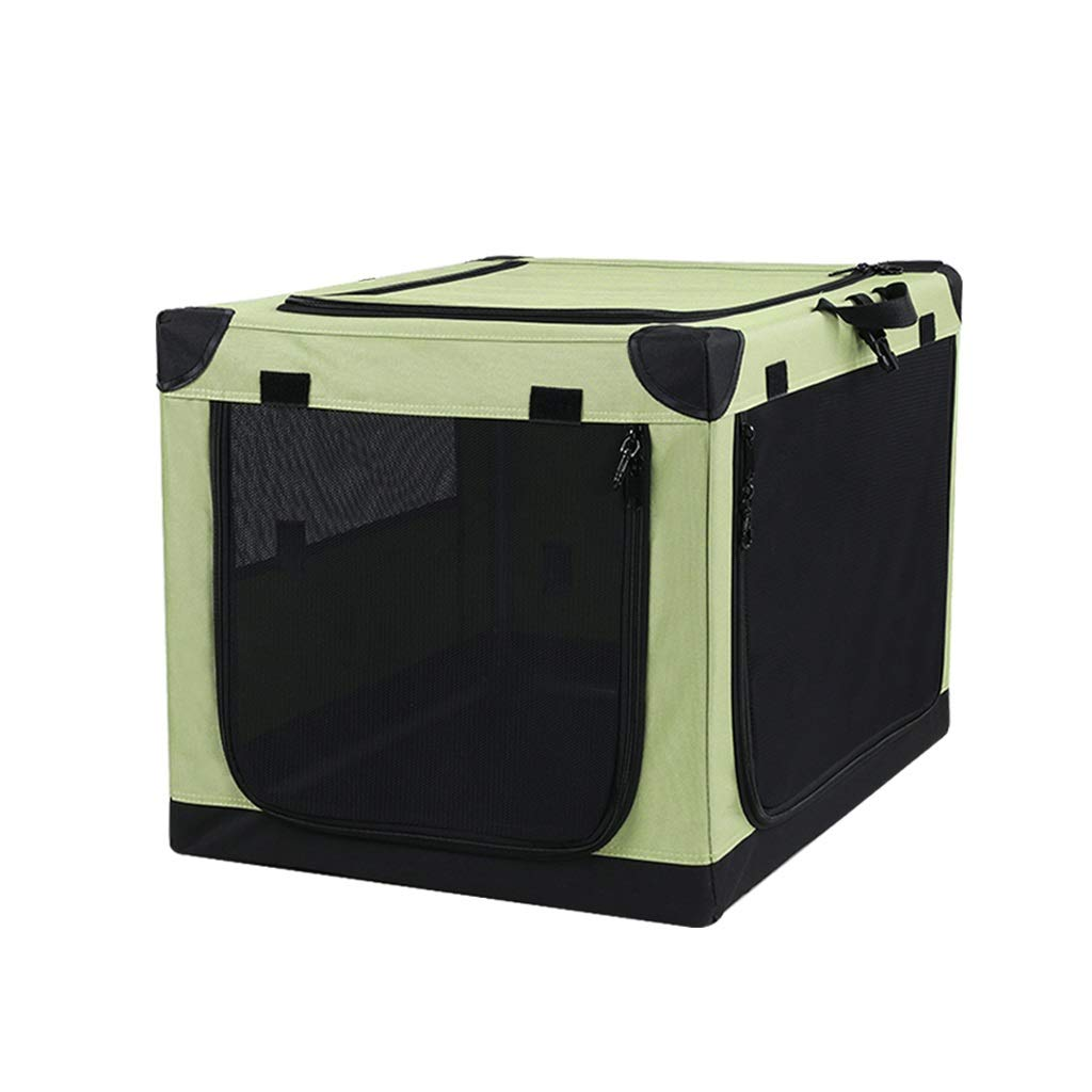 Large Car Go Pet Club Soft Crate,Designed for Travel,Outdoor Use,Perfect for Small and Medium Pets, Green (Size   L)