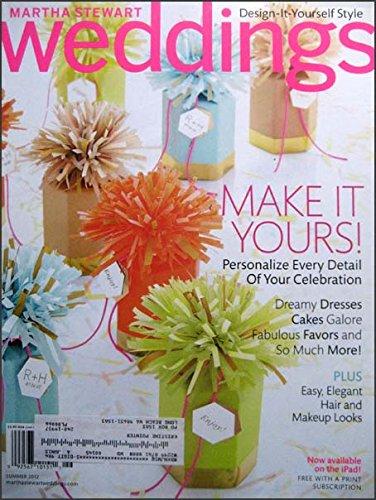 (Martha Stewart Weddings Summer 2012 DIY, Dreamy Dresses, Cakes, Favors, Hair and Make Up, Miami Wedding, Carnation Bouquets)