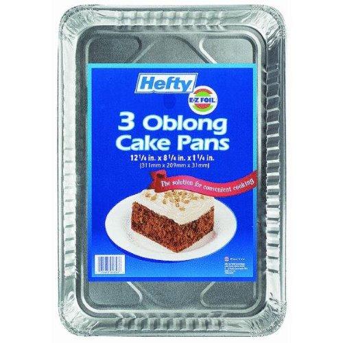 Hefty Oblong箔ケーキパンDWセーフ8.25