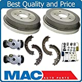Rear Brake Drum Drums Shoes Spring Kit Wheel Cyl for 92-01 Camry 99-03 Solara
