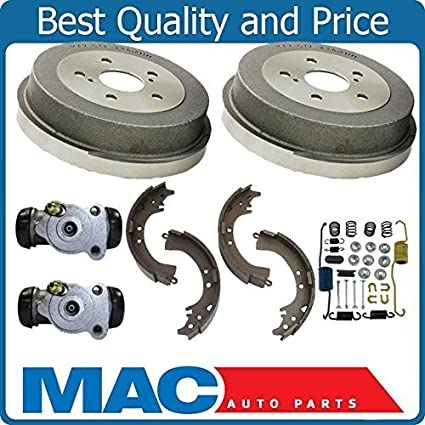 Amazon Rear Brake Drum Drums Shoes Spring Kit Wheel Cyl For 92 01 Camry 99 03 Solara Automotive