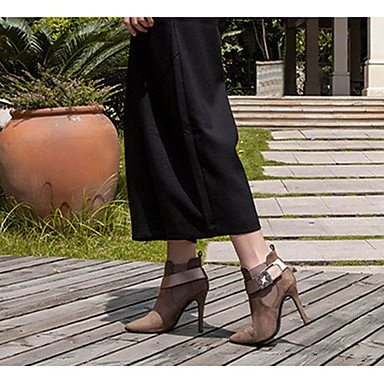 CH&TOU Da donna-Stivaletti-Casual-Plateau-A stiletto-Cashmere-Nero Marrone , light brown , us7.5 / eu38 / uk5.5 / cn38