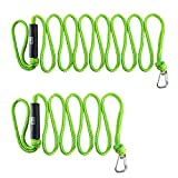 Obcursco Mounteen Premium PWC Dock Lines, Heavy Duty Braided Line, for Boat, Kayaking, Marine Sets of Two Ropes, 1/2'' x 7ft & 14ft Lengths, with 316 Stainless Steel Clip