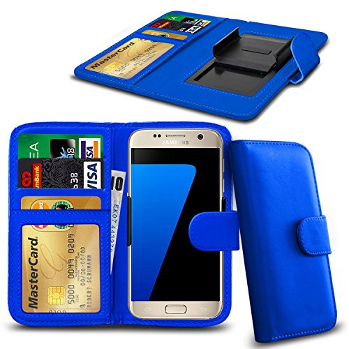 N4U Online® Apple iPhone 3GS en cuir PU clip Cover Wallet Case Avec carte de crédit, Notes & ID Slots - Bleu
