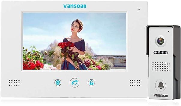 7 inch Video Door Phone intercom Doorbell With HD Digital Monitor Villa kit New
