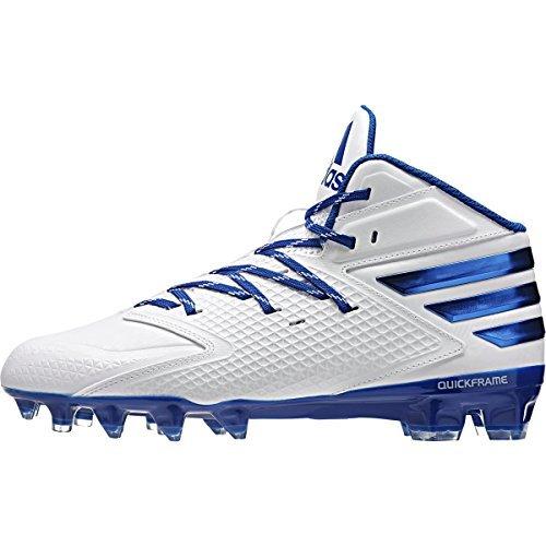 adidas Men's Freak X Carbon Mid Football Shoe, White/White/Collegiate Royal, 10 M US