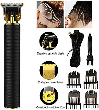 JYMSB Cortapelos para Hombres, Cortapelos Profesionales, Fuerte Motivación USB De Bajo Ruido De Carga Rápida, Negro