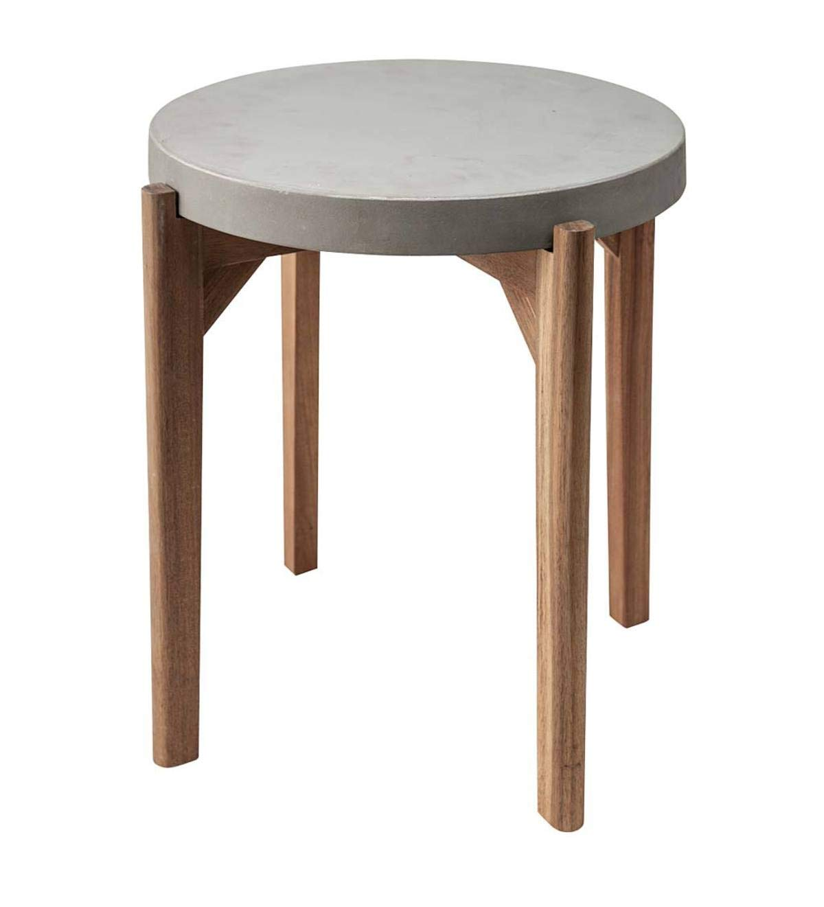 Cement side table Concrete Block Amazoncom Wind Weather Cement And Wood Side Table 1925 Dia 1775 Garden Outdoor Amazoncom Amazoncom Wind Weather Cement And Wood Side Table 1925 Dia