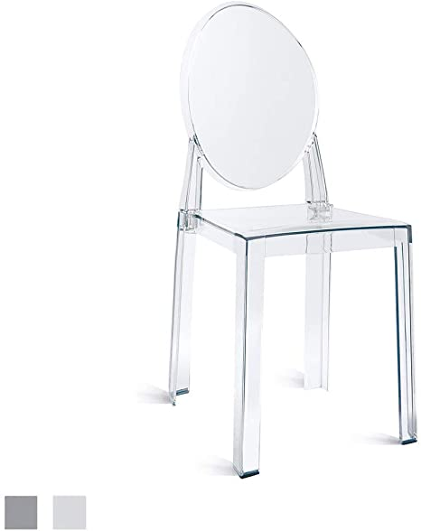 Plastic Chair No Arm Side Chair With Back Clear Legs Dining Chair 2xhome