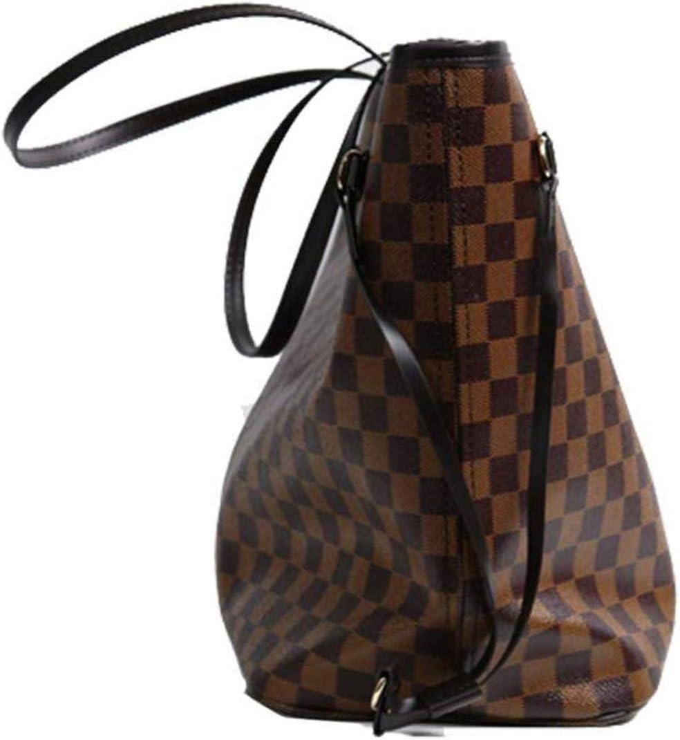 KN-Backpack Neverfull Style Damier Tote Schulter gro/ße Kapazit/ät Einkaufstasche weiblichen Beutel Schachbrett Frauen Veranstalter Handtasche Schulter Mode Tasche