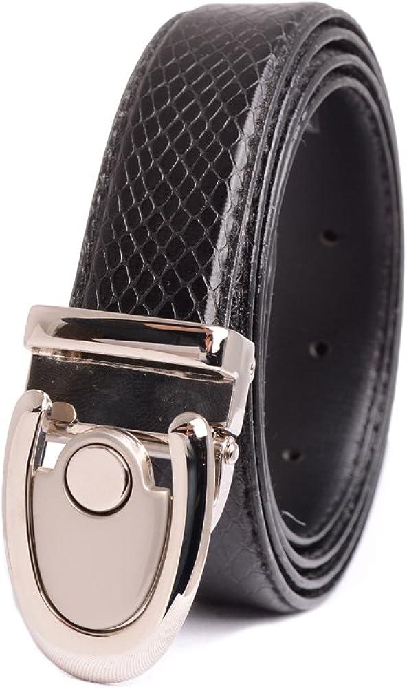 A.P.L Mens Leather Dress Belt Snake Print