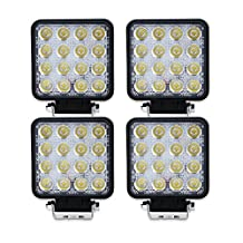 TURBO 4Pcs 48w 4 Inch Square Spot Beam Led Work Off Road Driving Light For Off-Road Suv Boat 4X4 Jeep Lamp 4Wd Truck