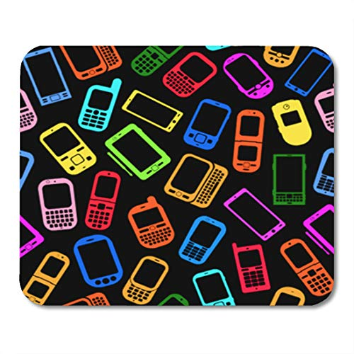 Cdma Pda Smartphone - Semtomn Gaming Mouse Pad Colorful Phone Made Mobile Devices on Smartphone Pattern Cellphone 9.5