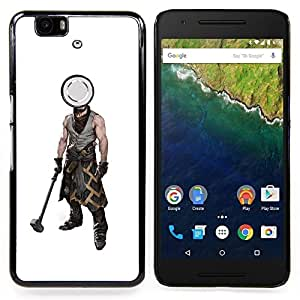- Hammer Warrior Man Muscles Masculine Art - - Snap-On Rugged Hard Cover Case Funny HouseFOR Huawei Nexus 6P